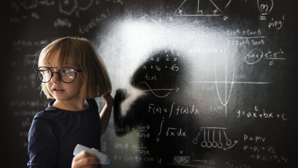 little genius solving algebra class